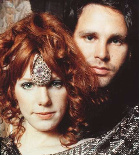 Jim Morrison and Pamela   HIPPIE TIPI